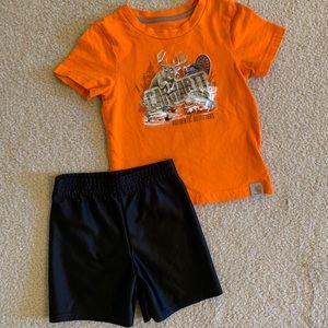 Carhartt 2T Shirt & Gym Shorts